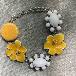 Yellow and white floral bracelet
